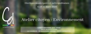 """Atelier citoyen """"Environnement"""", lundi 9 décembre 2019,  la Fleuriaye à Carquefou"""
