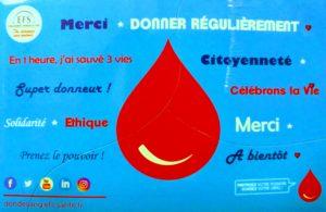 Don du Sang EFS Carquefou le samedi 7 décembre 2019